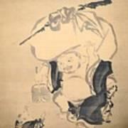 Lucky Gods Hotei Art Print