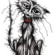 Lucky The Cat Art Print