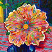 Lucky We Live Hibiscus Art Print
