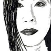 Lucy Liu Art Print