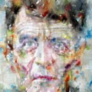 Ludwig Wittgenstein - Watercolor Portrait.2 Art Print