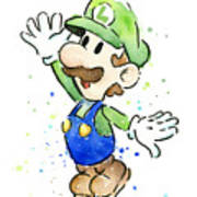 Luigi Watercolor Art Print