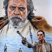 Luke And Rey Art Print