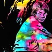 Luke Skywalker Paint Splatter Art Print