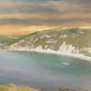Lulworth Cove Panorama Art Print