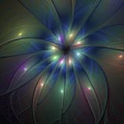 Luminous Fractal Art Art Print