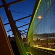 Luminous Green Bridge Art Print