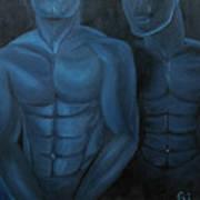 Luna Azul Art Print