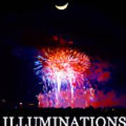 Lunar Illumanations Epcot Art Print