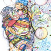 Lunas Y Estrellas Perdidas- Sombra De Arreguin Art Print
