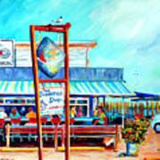 Lunch At The Clam Bar Art Print