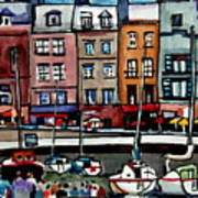 Lunch At The Harbor Art Print