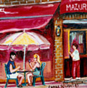 Lunch At The Mazurka Art Print