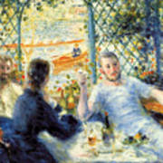 Lunch At The Restaurant Fournaise, The Rower's Lunch Art Print