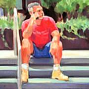 Lunch Break - Men at Work Series Art Print