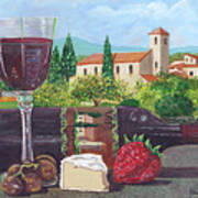 Lunch In Provence Art Print