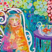 Lunch Cat Art Print