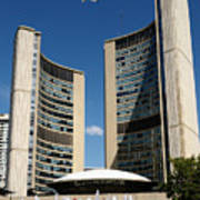 Lunchtime At Nathan Philips Square Toronto City Hall Art Print
