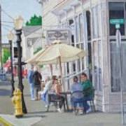 Lunchtime In Florence, Or Art Print