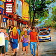 Lunchtime On Mainstreet Art Print