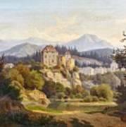 Lunde, Anders Christian Copenhagen 1809 - 1886 Grotta Ferrata. Oil On Canvas. Relined Art Print