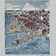 Lunenburg Port Art Print