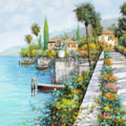 Lungolago Art Print by Guido Borelli