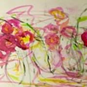 Lush Flowers Art Print