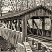 Luther Mills Bridge In Monochrome Art Print