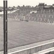 Luton Town - Kenilworth Road - Kenilworth Terrace North Goal 1 - Bw - August 1969 Art Print
