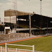 Luton Town - Kenilworth Road - Main Stand East Side 1 - 1970s Art Print