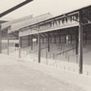 Luton Town - Kenilworth Road - Oak Road Terrace South Goal 1 - Bw - April 1969 Art Print