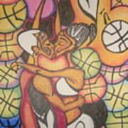 Luv N B'ball Art Print