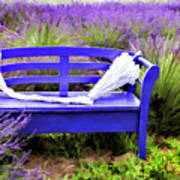 Luvin Lavender Farm Bench Art Print