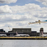 Lux Air London City Airport Art Print
