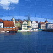 Luzern Lake Front Art Print
