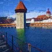 Luzern Tower Art Print