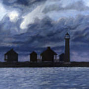 Lydia Ann Lighthouse Art Print