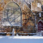 Lynn Central Congregational Church Lynn Ma Winter Art Print