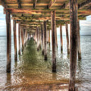 Lynnhaven Fishing Pier, Pillars To The Sea Art Print