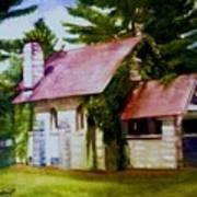 Lyons Falls Church Art Print