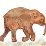 Lyuba The Ice Baby Mammoth  Art Print