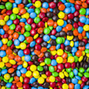 M And M Candy Real Chocolate Minis Art Print