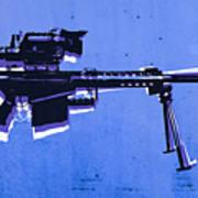 M82 Sniper Rifle On Blue Art Print