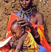 Maasai Grandmother And Child Art Print