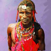 Maasai Moran Art Print