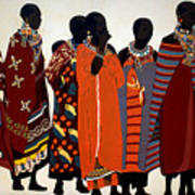 Maasai Women Art Print