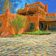 Mabel Dodge Luhan House As Oil Art Print