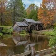 Mabry Mill In Fall 2 Art Print