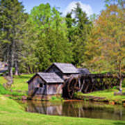 Mabry Mill In The Springtime On The Blue Ridge Parkway  Art Print by Kerri Farley